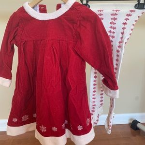 Hanna Andersson toddler dress & tights